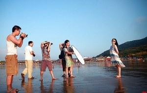 【象山图片】浙江象山石浦檀头山岛, 浪漫夏天、漫步沙滩、摄影腐败
