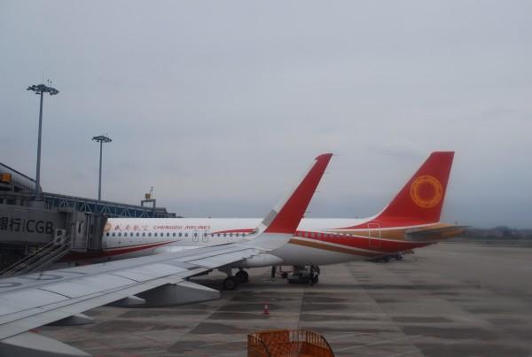 滑行过程中拍到的南航波音787