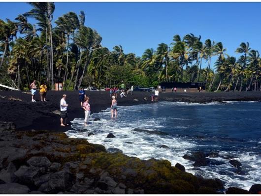 夏威夷大岛火山 海边小镇 咖啡农场 黑沙滩 凯鲁瓦码头 夜观火山主口