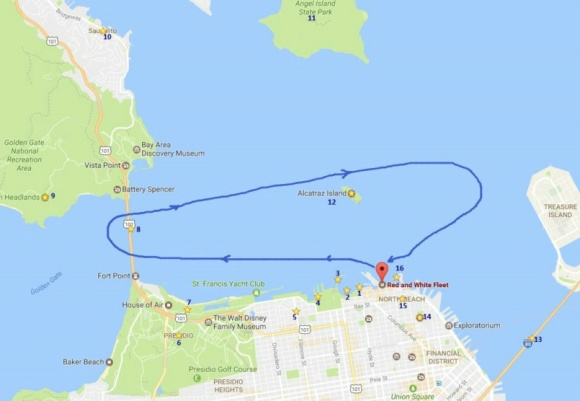 【体验介绍】 想体验旧金山必去景点吗?参加这项60分钟的金门海湾巡航,您会明白它为什么被誉为旧金山的完美推介。一个小时巡航会在旧金山海湾做一个环航,经过恶魔岛和金门大桥桥下。这是一张开放票,预订后一年内的任何日期都可有效使用。 【推荐理由】 1. 从渔人码头中心的43号码头出发,巡航经过旧金山天际景观,看到充满活力的北滩社区和旧金山海事国家历史公园。 2.