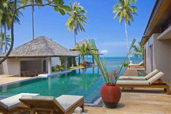 苏梅岛萨玛拉奢华亲子海滨泳池别墅(含早 私人管家服务 独家儿童乐园