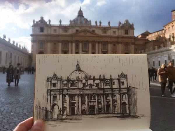 欧洲建筑手绘之旅--欧洲游记--蚂蜂窝