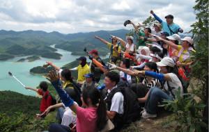 【中山图片】4小时翻越双合山,奶头山,观长江水库美景