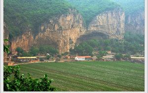 【昔阳图片】悬崖下的小村庄——山西昔阳的北岩村