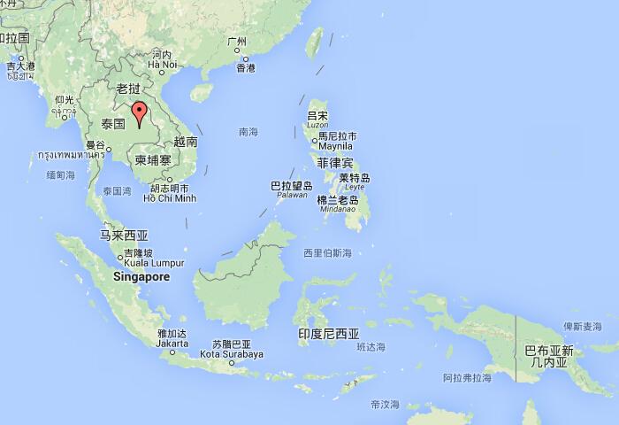 陆域为中南半岛