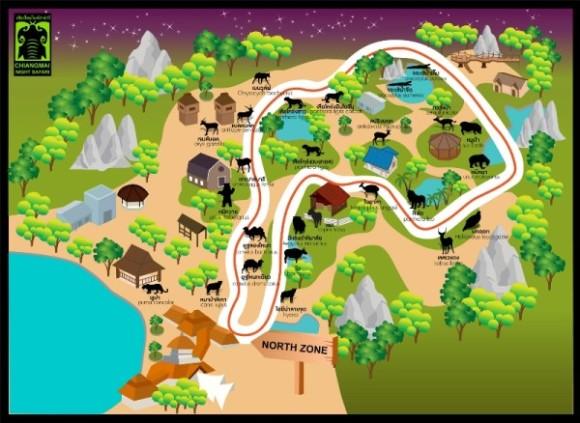 19:00  到达清迈野生动物园  19:45  坐电缆车(英文导游),坐电子缆车