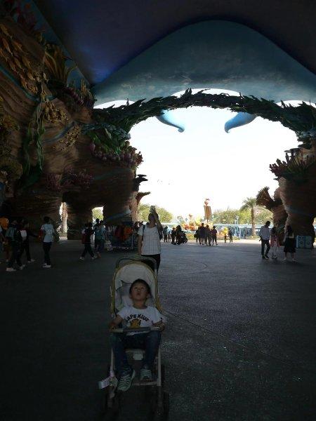 而我和我老婆,在4年前的常州恐龙园就不敢乘.所以,只好听着上面