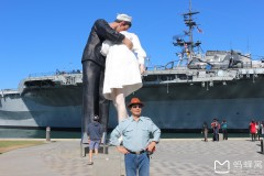 北美之旅...美国圣地亚哥军港中途岛号航母风景区随拍
