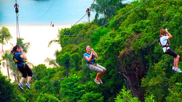 普吉岛xtrem丛林探险园门票(丛林飞索+自助餐+英文导游)
