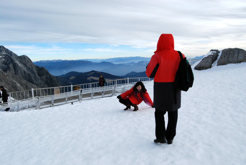 清晨上玉龙雪山,美的不要不要的!