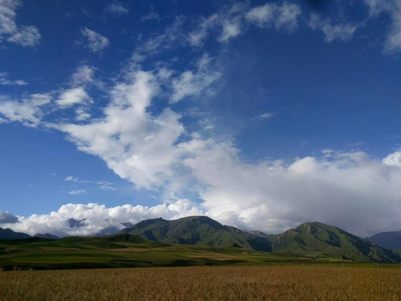 走進祁連山那美麗的風景的地方